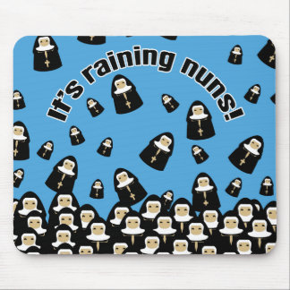It's Raining Nuns Mouse Mat