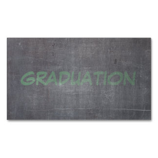 Its Real Chalk - Graduation Magnetic Business Card