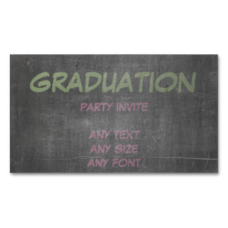 Its Real Chalk - Graduation Party Invite Magnetic Business Cards