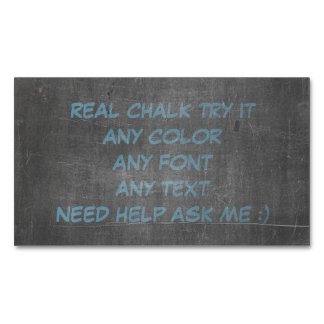 Its Real Chalk Magnetic Business Card