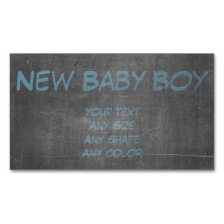 Its Real Chalk - New Baby Boy Magnetic Business Card