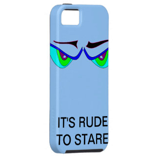 IT'S RUDE TO STARE Case iPhone 5 Cases