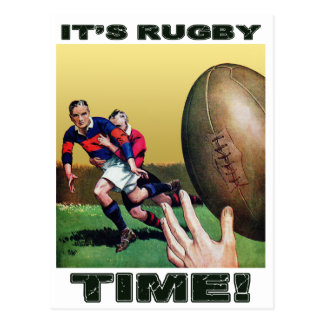It's Rugby Time - Postcard