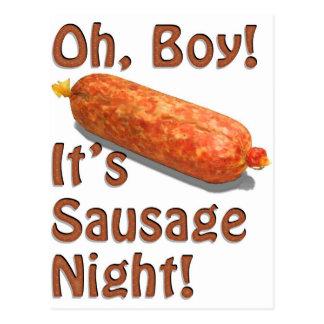 It's Sausage Night! Postcard
