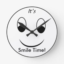 It's Smile Time Wall Clocks