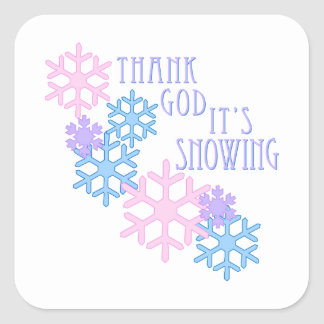 Its Snowing Square Sticker