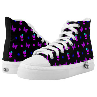 It's Spring in Bright Colours Hi Tops Printed Shoes
