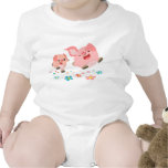 It's Spring!!-Two Cute Cartoon Pigs Baby T-shirt