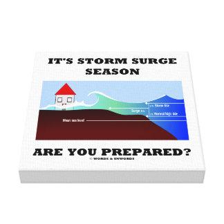 It's Storm Surge Season Are You Prepared? Canvas Print