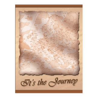 It's the Journey ~ Postcard