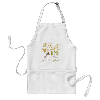 """""""It's the Most Wonderful Time of the Year"""" Standard Apron"""