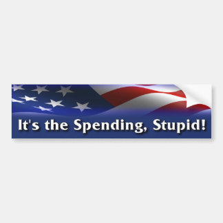 It's the spending, stupid! - Anti Obama Bumper Sticker