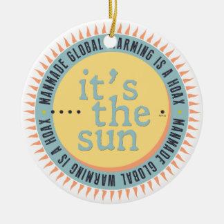 Its The Sun Round Ceramic Decoration