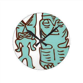 It's Tiki Time! Round Clock