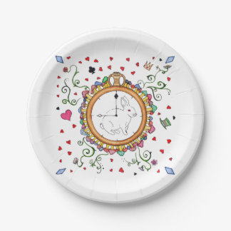 It's time Alice 7 Inch Paper Plate