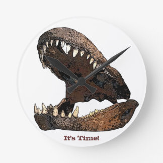 It's Time  - Dinosaur Jaw Clock