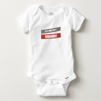 It's time for a change baby grow baby onesie