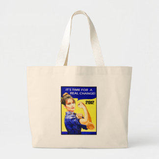 It's Time For A Change - Sarah Palin Jumbo Tote Bag