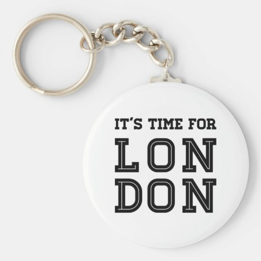 It's Time For London Key Ring
