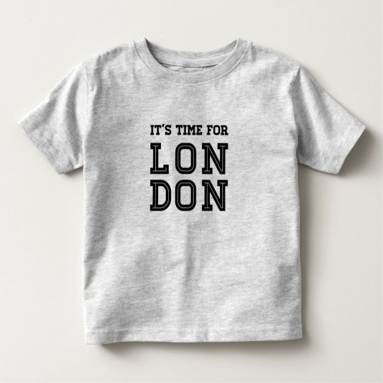 It's Time For London Toddler T-Shirt