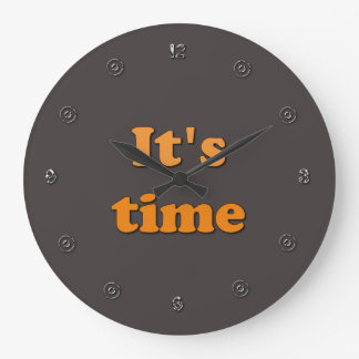 It's Time Large Clock