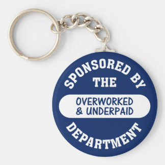 It's time the overworked & underpaid got raises basic round button key ring