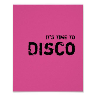 It's time to DISCO. Poster