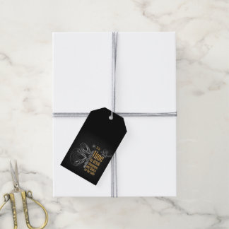 """It's time to drink champagne and dance Gift Tags"