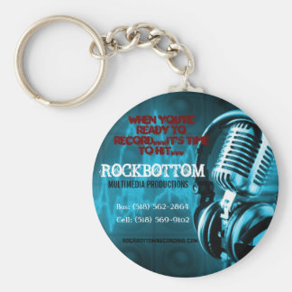 It's time to hit ... Rockbottom Basic Round Button Key Ring