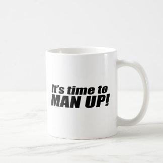 It's time to Man up - Basic White Mug