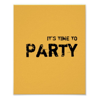 It's time to PARTY. Poster