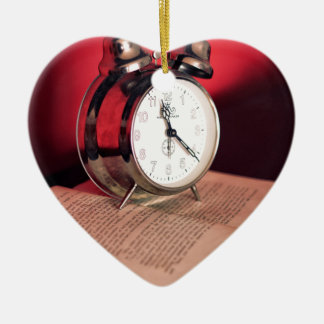 It's Time to read a Book Ceramic Heart Decoration