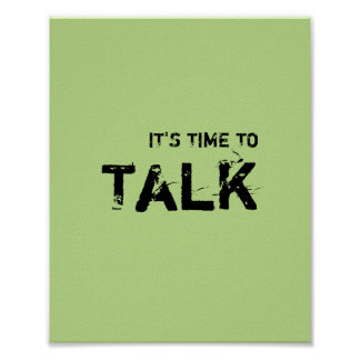 It's time to TALK. Poster