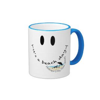 It's To Beach Day - Ventnor City, New Jersey Ringer Mug