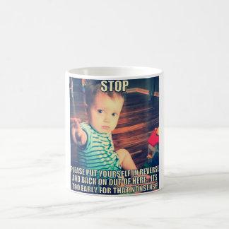 It's too early funny mug