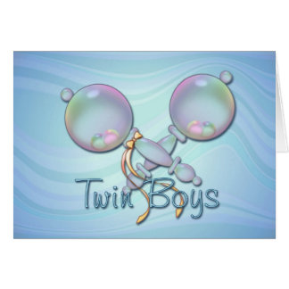 IT'S TWIN BOYS BABY RATTLE by SHARON SHARPE Card