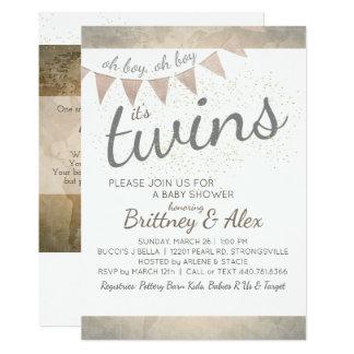 It's Twins! Baby Shower Invitation