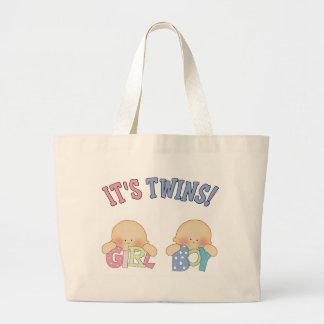 ITS TWINS (Boy Girl) Jumbo Tote Bag
