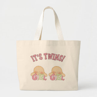 It's Twins! (GIRL GIRL) Large Tote Bag
