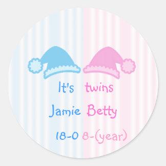 It's twins round sticker