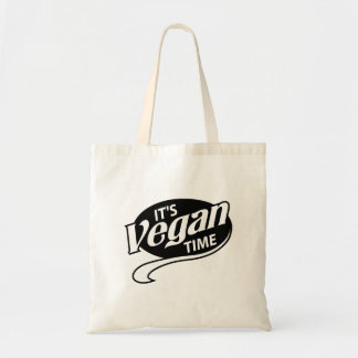 IT'S VEGAN TIME BUDGET TOTE BAG
