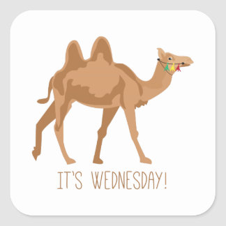 Its Wednesday Square Sticker