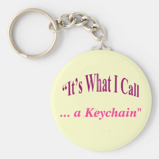 """It's What I call ..."" Key Ring"