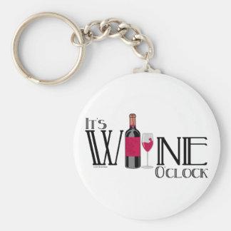It's Wine O'clock Key Chain