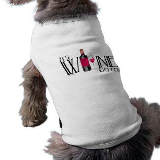 It's Wine O'clock Sleeveless Dog Shirt