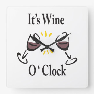 Its Wine O'Clock Wall Clock