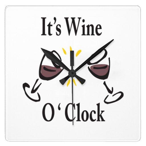 Its Wine O'Clock Wall Clock
