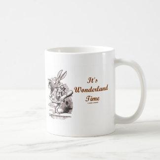 It's Wonderland Time White Rabbit With Trumpet Mugs