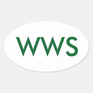 It's WWS, or (WA WA Segowea!) Oval Sticker