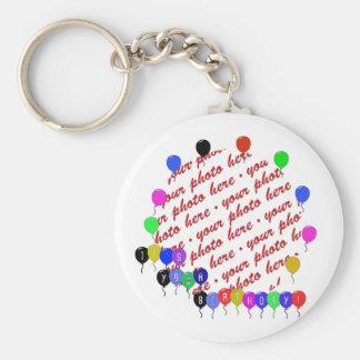It's your Birthday! Birthday Balloons Photo Frame Basic Round Button Key Ring